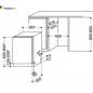 ماشین ظرفشویی توکار ویرپول مدل W 75
