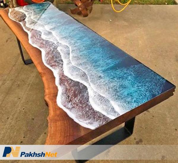میز رزینی